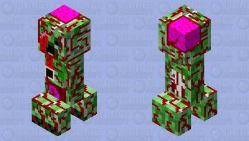 Zombie Creeper Minecraft Mob Skin