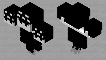 THE WITHER (black & white series) Minecraft Mob Skin