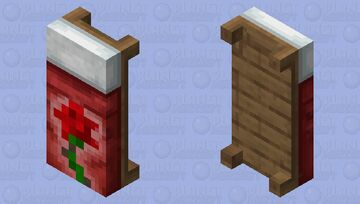 Red Rose Bed HD Minecraft Mob Skin