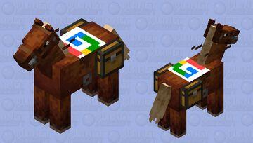 google saddelded horse Minecraft Mob Skin
