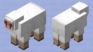 When u shear it yeah then its uh bloody lol Minecraft Mob Skin