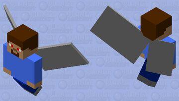 A Vex That Is Steve (Charging) Minecraft Mob Skin