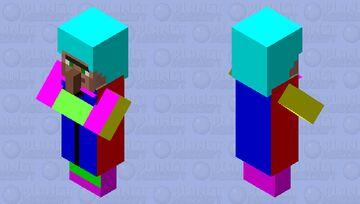 🌈 Rainbow Villager Mob Skin For DerpyWaffles Minecraft Mob Skin