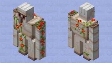 Red Flowered Golem Minecraft Mob Skin