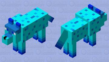 winter wolf / ice wolf Minecraft Mob Skin