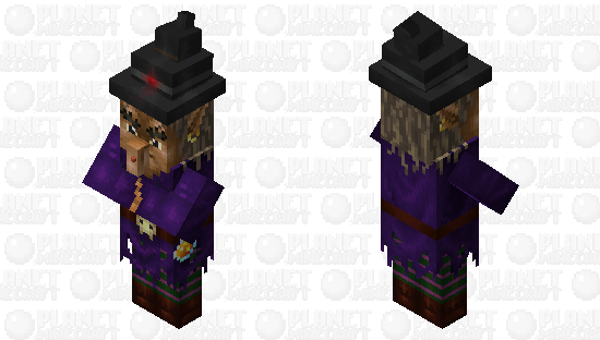 Realistic witch Minecraft Skin