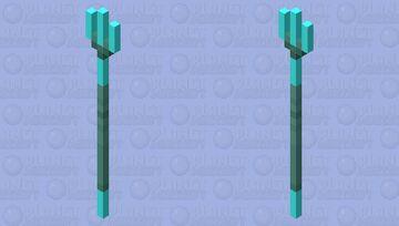 Diamond Trident Minecraft Mob Skin