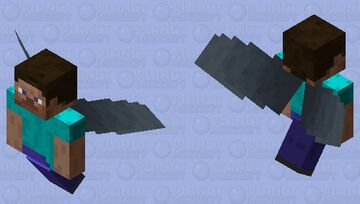 why are there flying steves? Minecraft Mob Skin