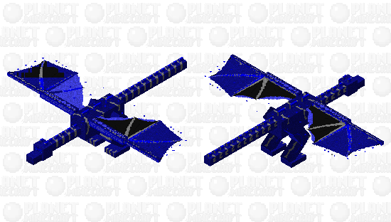 Ultra powered blue eyes phantom Minecraft Skin