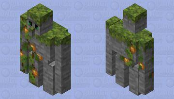 The Lush Guardian ( Lush Caves Golem ) Minecraft Mob Skin