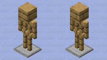 Armor Stand with Head Minecraft Mob Skin