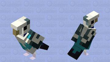 Budgerigar (Pied Blue Pattern) Minecraft Mob Skin