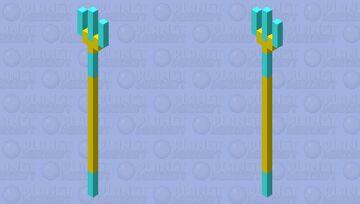 Diamond Trident (GOLD EDITION) Minecraft Mob Skin