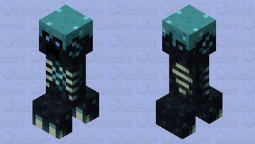Skulk Creeper (Sin cuernos) Minecraft Mob Skin