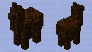 Pixelated llama Minecraft Mob Skin