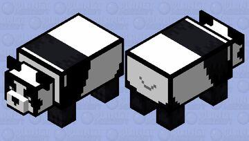 cartoon panda Minecraft Mob Skin
