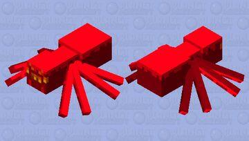 Crimson Forest Spider Minecraft Mob Skin