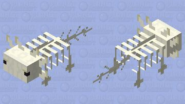 Skeleton Axalotl Minecraft Mob Skin