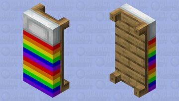 Rainbow Bed Minecraft Mob Skin