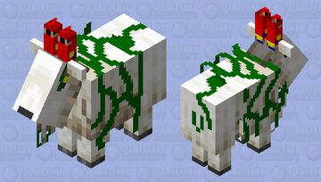 The Jungle goat (cute parrots for horns) Minecraft Mob Skin