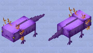 purple axolotl Minecraft Mob Skin