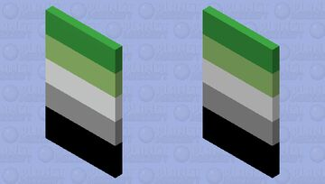Aromantic pride Minecraft Mob Skin