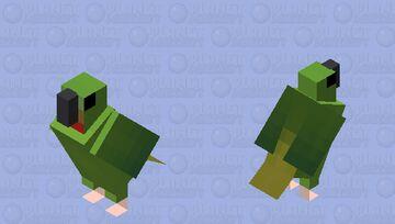 Lóris-de-bismarck (Loriculus tener) Minecraft Mob Skin