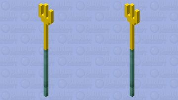 ~Trident covered in gold~ Minecraft Mob Skin