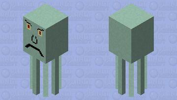 A terrible Squidward Minecraft Mob Skin