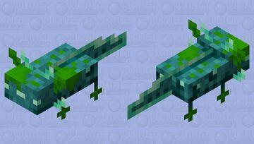 Axolotl / Glow / Remade / Minecraft size Minecraft Mob Skin