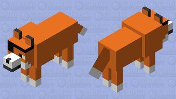 cap fox (fixed) Minecraft Mob Skin