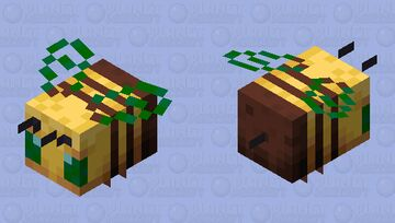 nature green's wing and eyes bee Minecraft Mob Skin