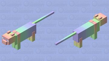 Rainbow pastel kitty asprin60, this is for you (re-texture Minecraft Mob Skin