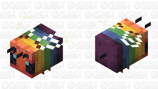 Pride Bee Minecraft Skin