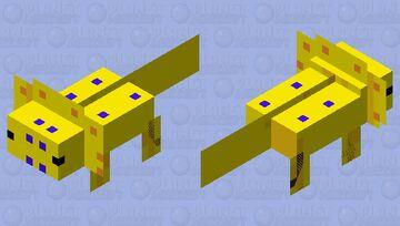 Sunny The weather Axolotl Minecraft Mob Skin