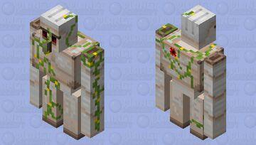 Old Iron Golem Minecraft Mob Skin