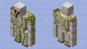 Iron Golem With more Flowers Minecraft Mob Skin