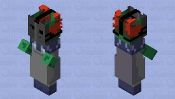 Tricky the clown - vs. Tricky mod Friday Night Funkin (original tricky the clown is form madness combat) Minecraft Mob Skin