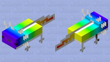 Rainbow axolotl (HD) Minecraft Mob Skin
