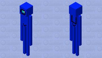 among us blue enderman skin Minecraft Mob Skin