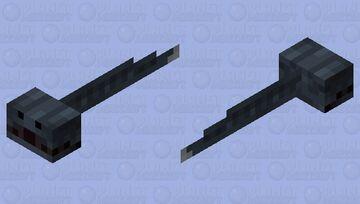 A badly made Gulper Eel Minecraft Mob Skin