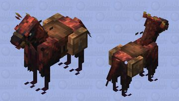 Red Velociraptor Horse (velocihorse Minecraft Mob Skin