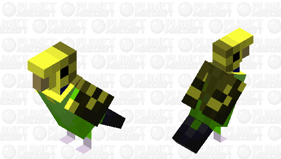 Budgerigar (Wild Pattern) Minecraft Skin
