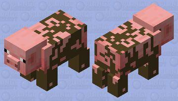 Realistic Pig Minecraft Minecraft Mob Skin