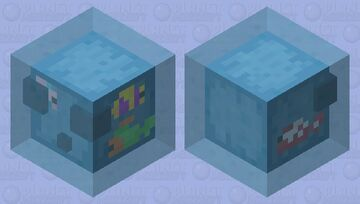 """Tropical slime / remade / from the new dungeons DLC """"Hidden Depths"""" Minecraft Mob Skin"""