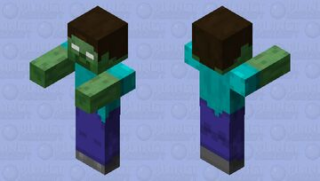 Texture Update Xbox 360 Zombie Herobrine Minecraft Mob Skin
