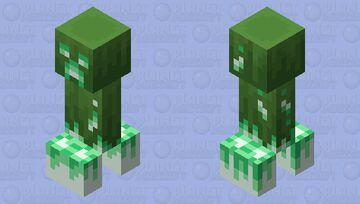 New Creeper (Charger) (Remade) Minecraft Mob Skin