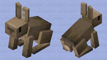 Brown Bunny Minecraft Mob Skin