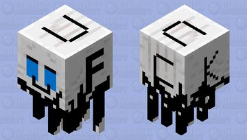 this ghast almost become fully black because he keep cry Minecraft Mob Skin