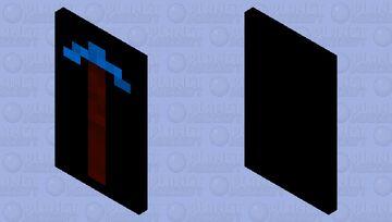 Simple Diamond pick cape Minecraft Mob Skin